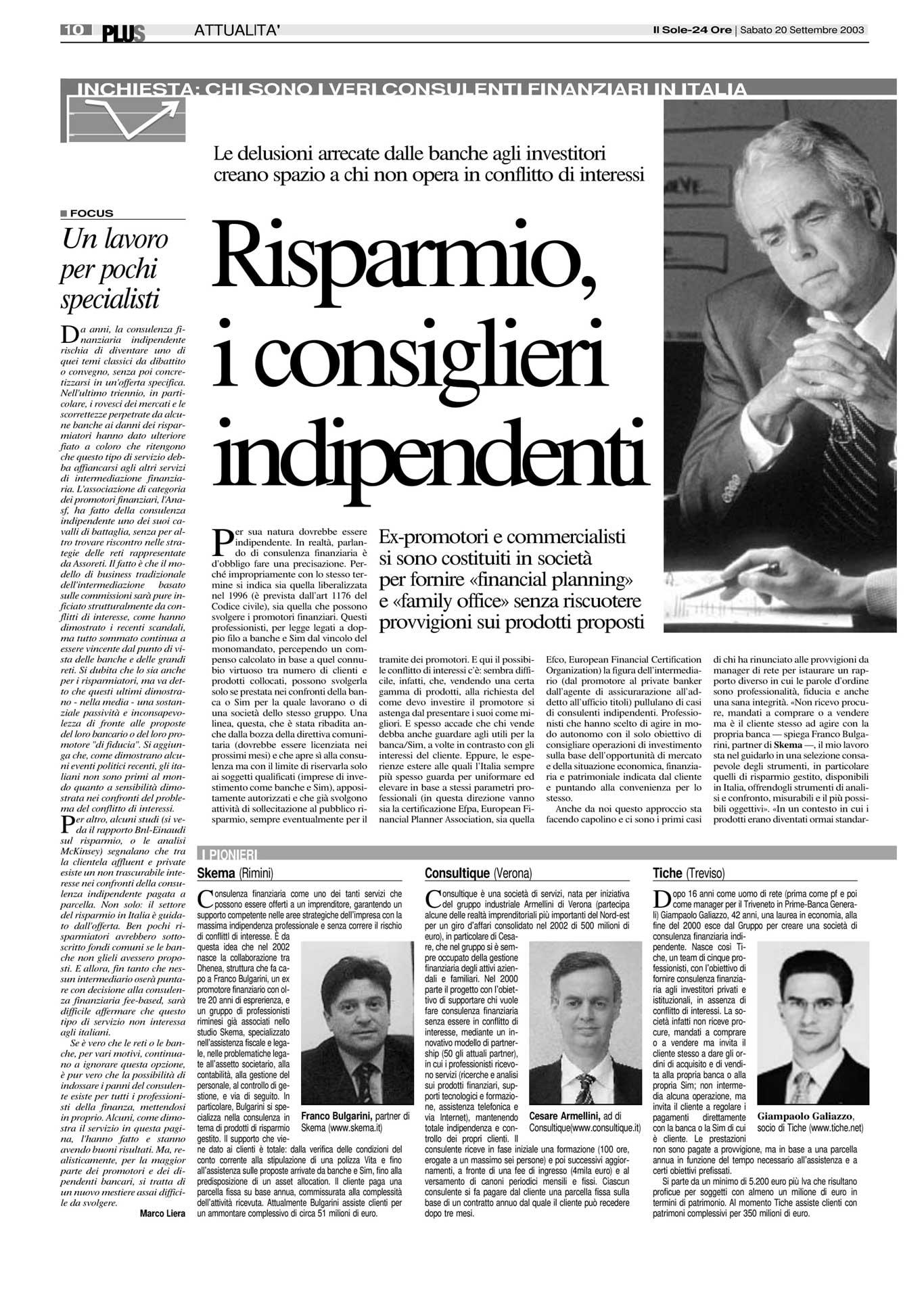 Franco Bulgarini intervistato da Il Sole-24 Ore