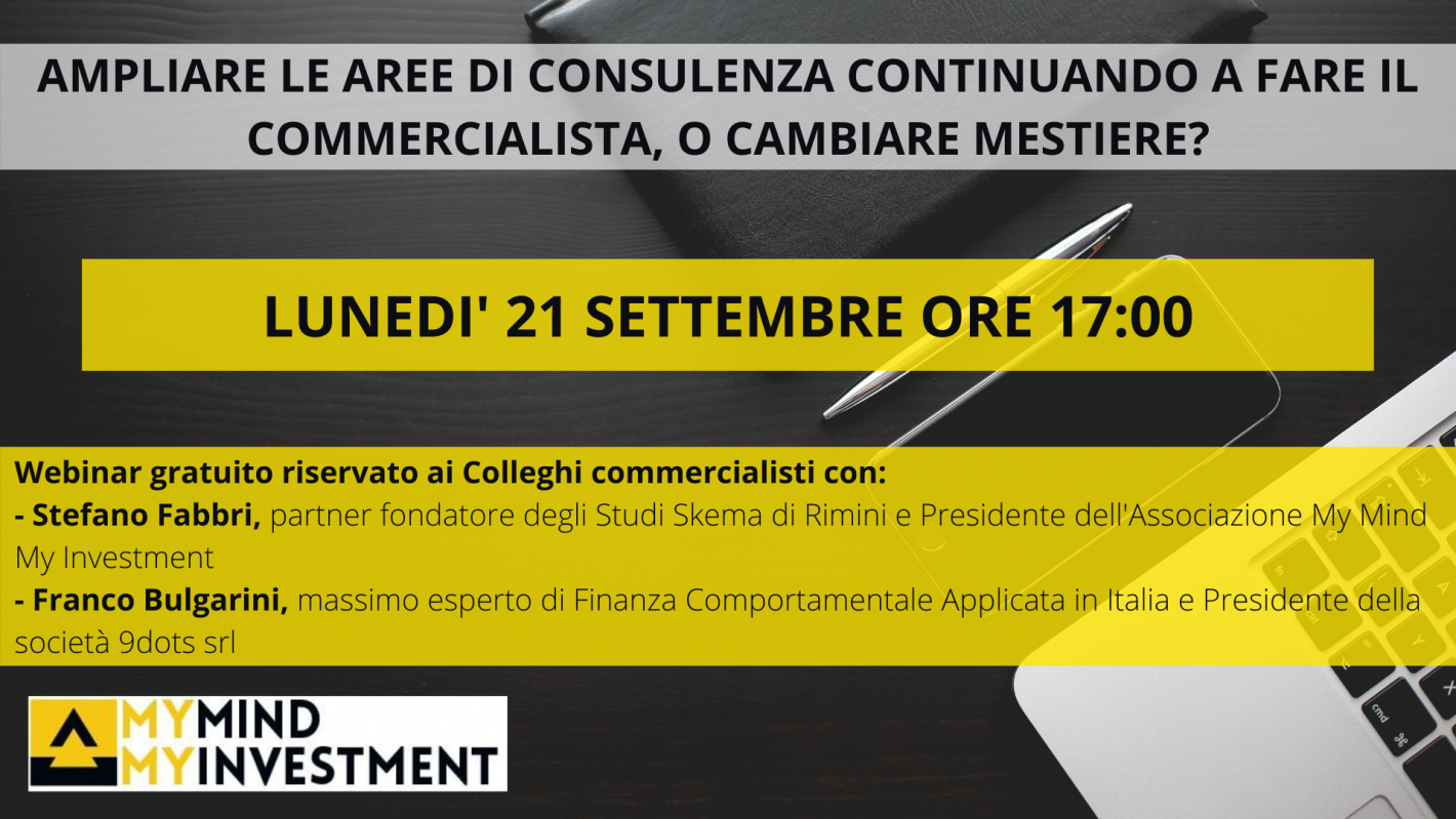 Webinar per commercialisti -My Mind My Investment